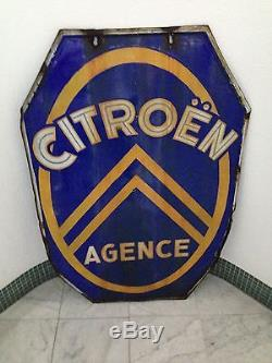 CITROEN PLAQUE EMAILLEE ANCIENNE CITROEN AGENCE
