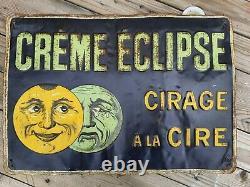 CREME ECLIPSE Cirage à la Cire ancienne tole no Plaque émaillée illustrée