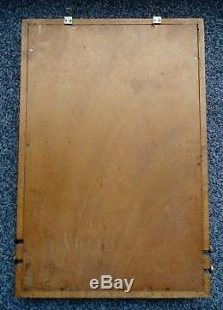 Calendrier perpétuel DUNLOP 1950 en bois et verre no plaque émaillée michelin