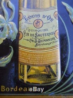 Carnet pub en tôle litho Quinquina au vin de Sauternes LOUIS d'OR Bordeaux