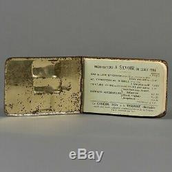 Carnet tôle lithographiée A. ROY et cie calendrier publicitaire 1908