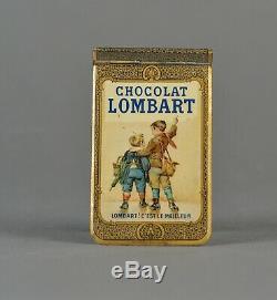 Carnet tôle lithographiée chocolat Lombart 1906 calendrier publicitaire
