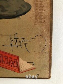 Carton calendrier 1908 papier cigarettes RIX LA CROIX + no plaque émaillée tin