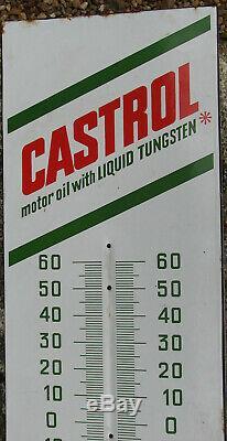 Castrol. 1 X Thermometre Emaille. Format 76 X 23 Cm. Bel Etat