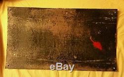 Chocolat MENIER, Grande Plaque emaillee ancienne, superbe état, 28.5x50cm