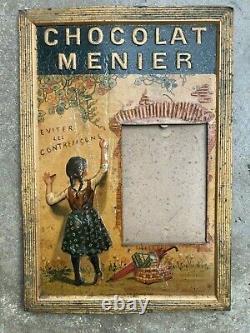 Chocolat MENIER ancienne plaque lithographiée Firmin Bouisset