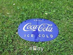 Coca Cola Plaque émaillée 36x25 cm