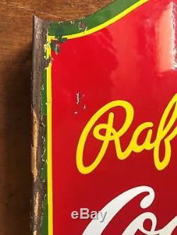 Coca-cola. Plaque Emaillee Rafraichissez-vous, Vendu ICI Glace Panneau