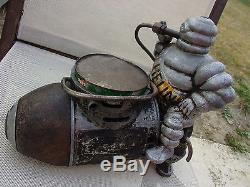 Compresseur michelin bibendum gonfleur pression ancien garage made in france
