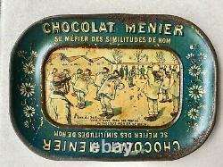 Coupelle Chocolat MENIER Tôle Lithographiée 1900