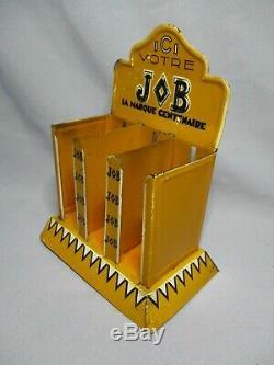 Dv9309 Ancien Presentoir Publicitaire Job Papier A Cigarette En Tole Bon Etat