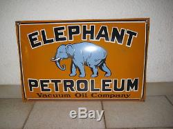 ELEPHANT PETROLEUM plaque émaillée