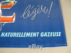 Eau Minérale Couzan Brault Ancienne Plaque Publicitaire Tôle Lithographiée