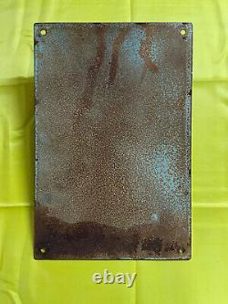 Emaillee Plaque Allemand 30x20 Cm