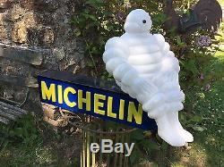 Enseigne Lumineuse Michelin Avec Le Bibendum 1955 Garage Automobile