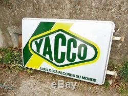 Enseigne Lumineuse Yacco 120 CM Garage Huile Bidon Station Service