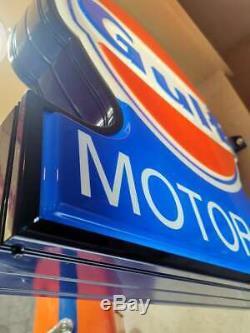 Enseigne NEON Neon Gulf MOTOR OIL originale