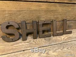 Enseigne SHELL. NO PLAQUE ÉMAILLÉE