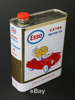 Esso Rare Plaque Emaillée Recto Verso Goutte D'huile Pour Aviation 1959