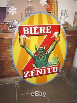 Fixé Sous Verre Géant Biere Zenith 90 CM