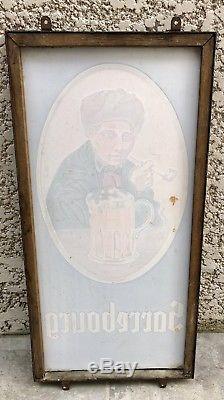 Fixé sous verre Bière Sarrebourg 1954