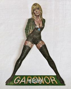 GARONOR, belle pin up signée Aslan, cuissarde, pinup, PIN UP, ASLAN, RARE
