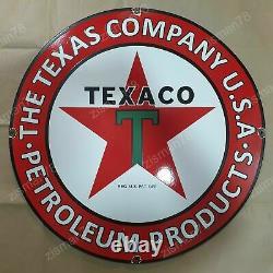 GRANDE plaque emmaillée TEXACO 78CM