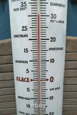 Grand Thermometre Emaillerie Lyonnaise Chocolat Revillon 94 Cm Superbe Etat