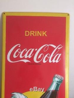 Grande Plaque Émaillée Coca Cola, Émaillerie Belge