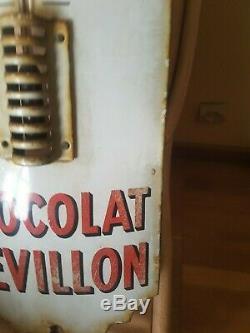 Grande Plaque Emaillee Thermometre Chocolat Revillon Dessin De Tete De Coq