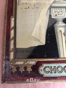 Grande Tôle Litho Chocolat DELESPAUL-HAVEZ signée Elisabeth Sonrel