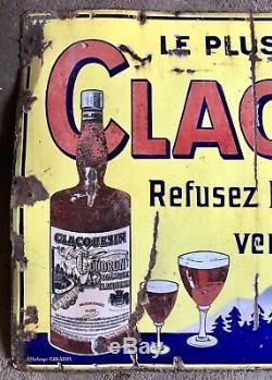 Grande plaque émaillée Clacquesin