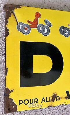 Grande plaque émaillée Dunlop Savignac