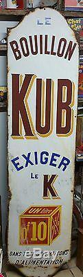 Grande plaque émaillée Le bouillon Kub Exiger le K 2m X 55 cm