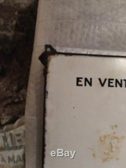 Grande plaque emaillee MOBILOIL 120cm Par 80cm