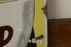 Grande plaque émaillée malt kneipp signée beuville excellent état