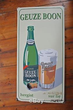 Gueuze Boon Vintage beer sign