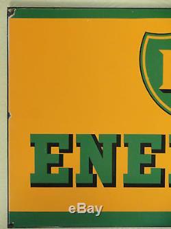 HUILE BP ENERGOL Plaque émaillé Ancienne Vitracier Neuhaus vers 1950/1960