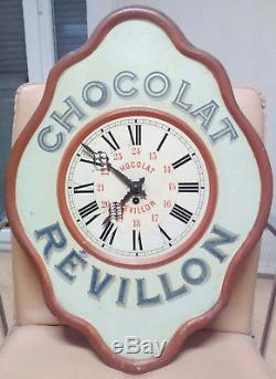 Horloge Publicitaire Chocolat Revillon Clock Pendule