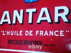 Introuvable ANTAR / PECHELBRONN. Une plaque émaillée de 1930' 55 x 45