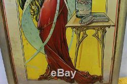 Introuvable tôle lithographiée vin cocaïné LIMOUSIN art nouveau no MUCHA