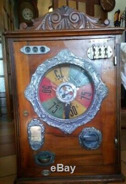 JEUX roulette de comptoir ver 1900 haut 75 cm larg 50 cm prof 20cm