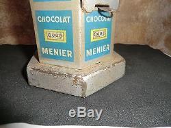 Kiosque Tirelire Distributeur de chocolats MENIER, no émaillée, lithographié