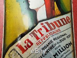 LA TRIBUNE REPUBLICAINE PLAQUE EMAILLEE PRESSE JOURNAL F MARTIN 20cm sur 30cm