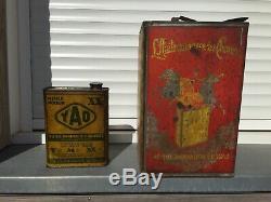 Lot Bidon Dhuile Ancien YACCO 1930 Plaque Émaillée Oil Can Öldose