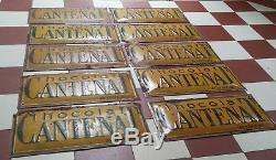 Lot plaques publicitaires ancienne tôle peinte Chocolat CANTENAT Vintage X 10