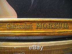 Magnifique Plaque Tole Chocolat Moreuil De 1920