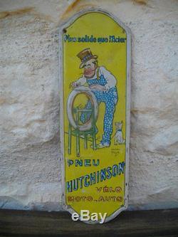 Magnifique Plaque Tole De Proprete Hutchinson De 1920