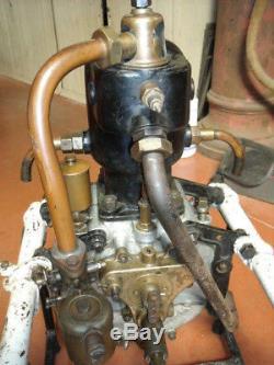 MOTEUR DE DION BOUTON bidon huile oil cycle gas pump tanksaule zapfsaule ancetre