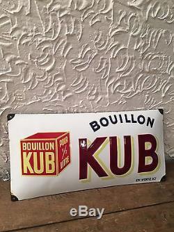 Magnifique Plaque Émaillée Bombée KUB 1937